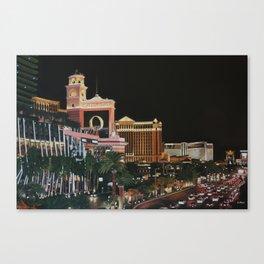 Las Vegas Strip Oil On Canvas Canvas Print