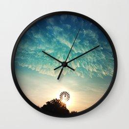 Windmill Sunrise Wall Clock