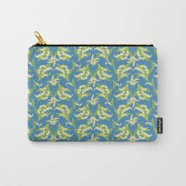 Vintage-style Lily-of-the-Valley Pattern Carry-All Pouch
