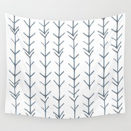 Twigs and branches freeform gray Wall Tapestry