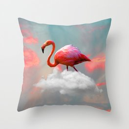 My Home up to the Clouds Throw Pillow