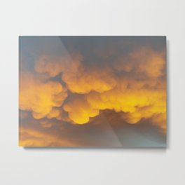GOLD BOILING IN THE SUNRISE Metal Print