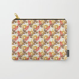 Cardinal Chickadee Pattern Carry-All Pouch