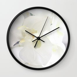 White Lily Flower Wall Clock