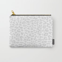 Pale Gray Leopard Carry-All Pouch