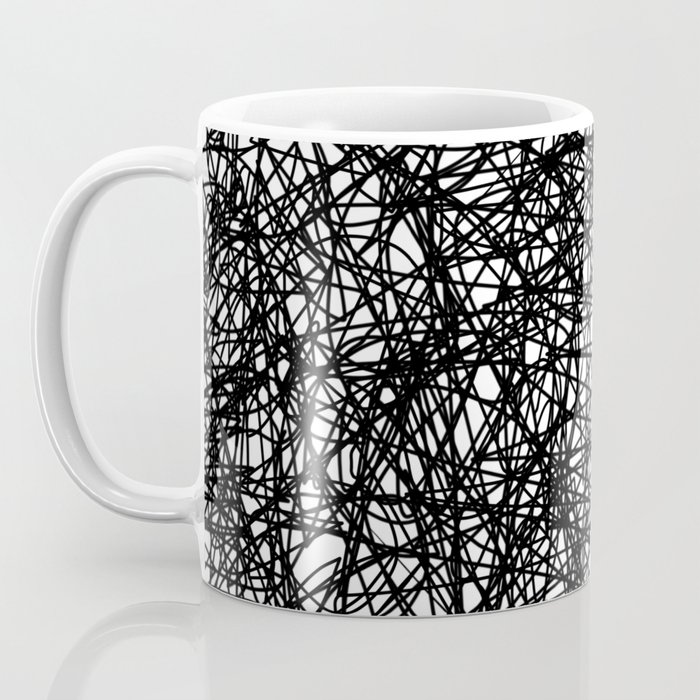 Angry Scribbles - Black and white, abstract, black ink scribbles ...