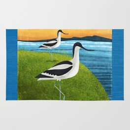 Two Avocets In Suffolk Rug