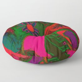 Blacklight Bouquet, Pink Floor Pillow