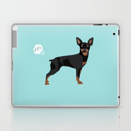 min pin miniature doberman pinscher farting dog cute funny dog gifts pure breed dogs Laptop & iPad Skin