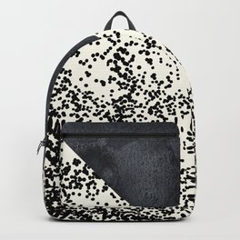 Black ivory confetti watercolor geometrical Backpack