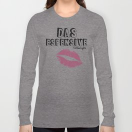 """KathleenLights """"Das Espensive"""" V3 White w/ Luminere color pop Lips Long Sleeve T-shirt"""