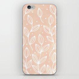 Watercolor Blush Leaves iPhone Skin