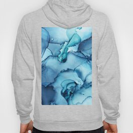 The Blue Abyss - Alcohol Ink Painting Hoody