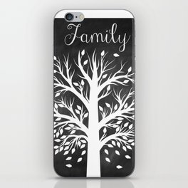 Family Tree Black and White iPhone Skin