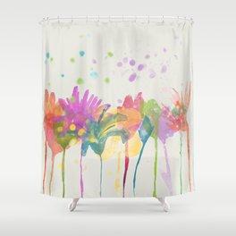 dp059-1 Watercolor flowers Shower Curtain