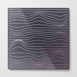 Wave lines Metal Print