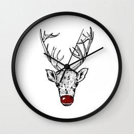 Chritsmas Reindeer Wall Clock