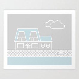 Lagoon House Art Print
