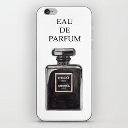 EAU DE Parfum Black Minimal Perfume Fashion iPhone Skin