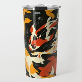 Koi in Black Water Travel Mug