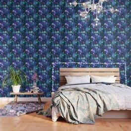 Eden Floral Blue Wallpaper