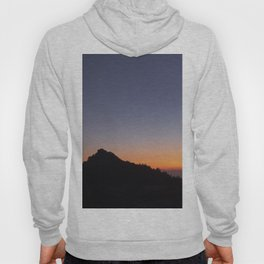 Venus and the Moon. Sierra Nevada at sunset Hoody