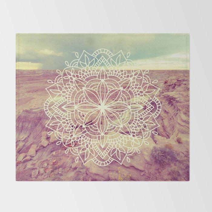 Rain Dance Desert Mandala Throw Blanket