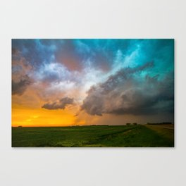 Glorious - Stormy Sky and Kansas Sunset Canvas Print