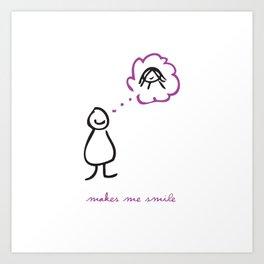 Makes Me Smile Art Print