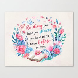 Reading can take you places Canvas Print