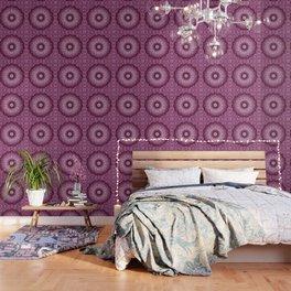 Cabernet Lace Mandala Wallpaper