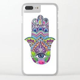 Hamsa Hand Clear iPhone Case