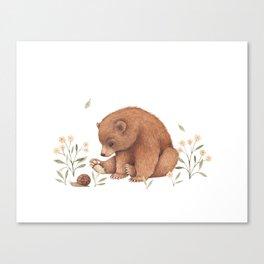 Spring Bear Canvas Print