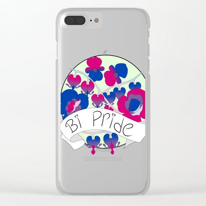 Bi Pride Flowers Clear iPhone Case