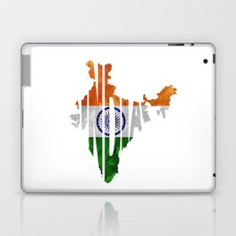 India World Map / Indian Typography Flag Map Art Laptop & iPad Skin