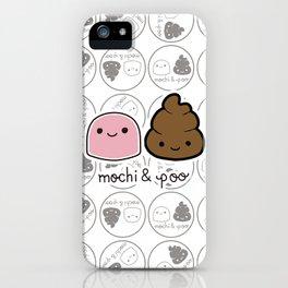 Mochi & Poo - Pattern2 iPhone Case