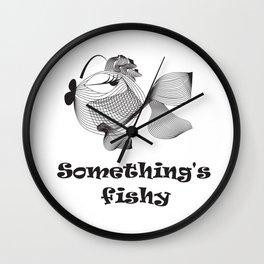 Cute funny fish Wall Clock