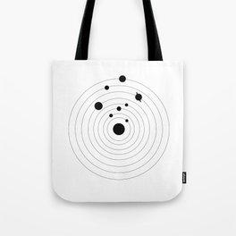 Black Solar System Tote Bag