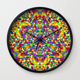 Happy triangle mandala 2 Wall Clock