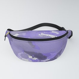 Purple Splatters Watercolor Illustration - Patchy Camo Fanny Pack