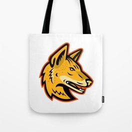 Arabian Wolf Head Mascot Tote Bag