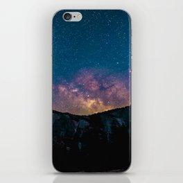 Milky Way Mountains Deep Pastel iPhone Skin