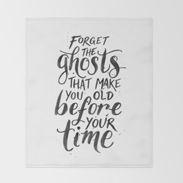 Forget the Ghosts - White Throw Blanket