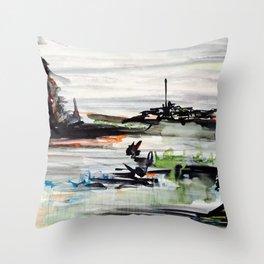 Ponderous machine Throw Pillow