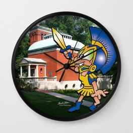 Little Athenian Football (Lew Wallace Study) Wall Clock