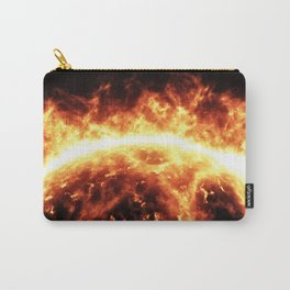 Sun surface with solar flares Carry-All Pouch