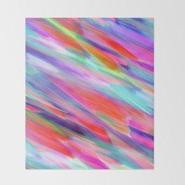 Colorful digital art splashing G399 Throw Blanket