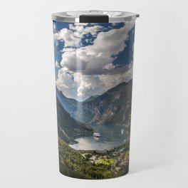 Geiranger Fjord Norway Mountains Travel Mug