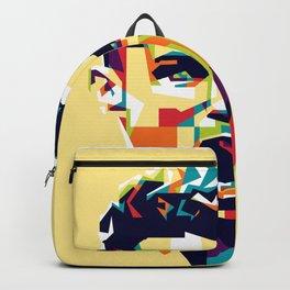 colorful illustration of ronaldo Backpack