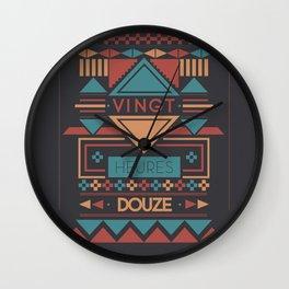Aztec Hour Wall Clock